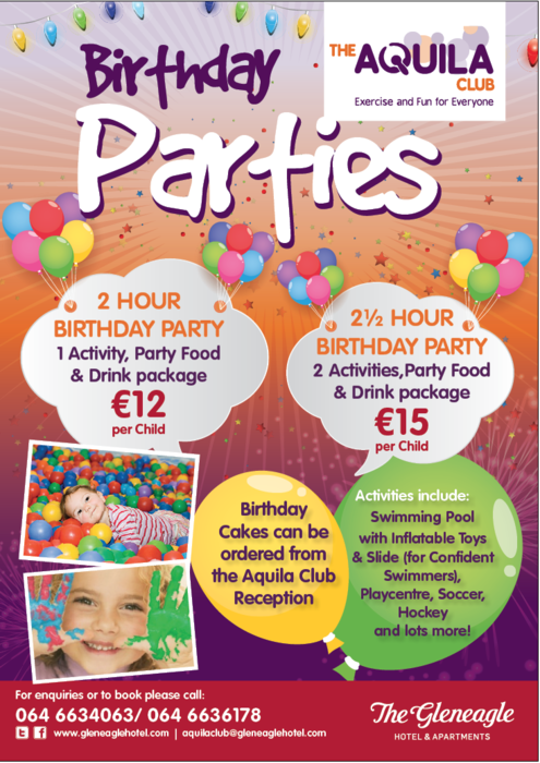 Kids Party Packages from €12